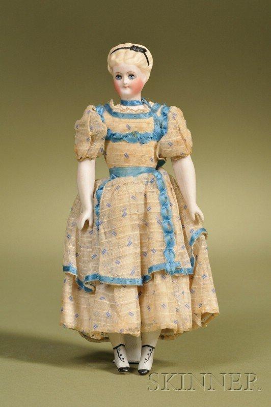 24: Simon & Halbig Parian Lady, Germany, c. 1880, untin