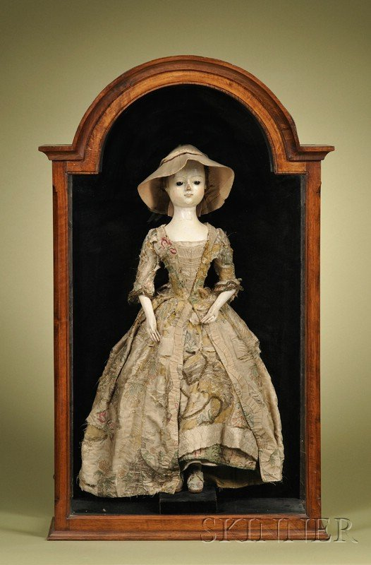 40: Large Queen Anne Lady Doll in Mahogany and Walnut V