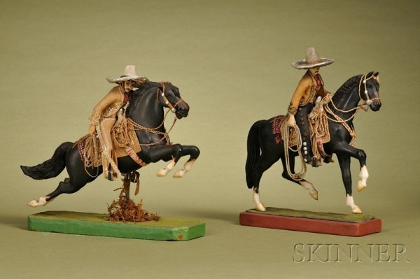 393: Two Mexican Cowboys on Horses, Mexico, c. 1930, wa