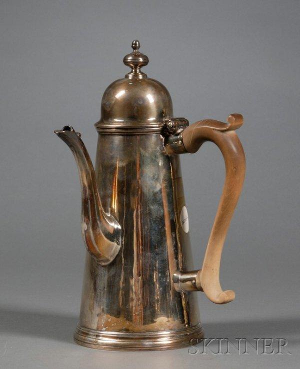 2: George I Silver Coffeepot, London, 1714, Edward York