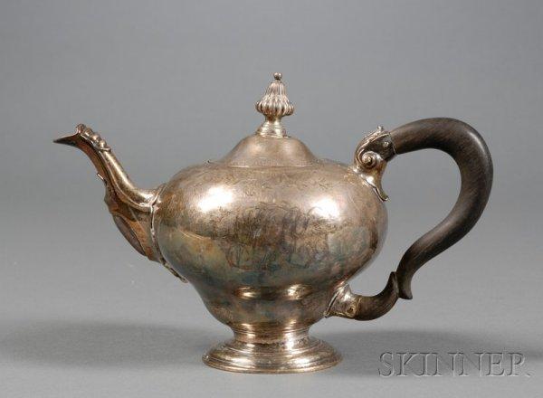 6: Early George III Silver Teapot, London, 1760, Thomas