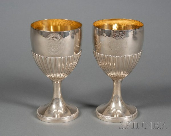 13: Pair of George III Silver Goblets, London, 1780, Jo