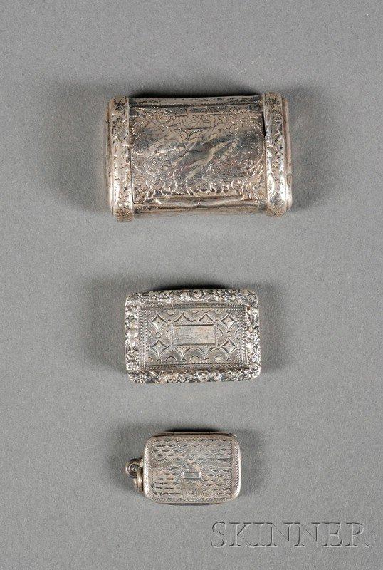 16: Three Georgian Silver Boxes, Birmingham, a 1790 vin