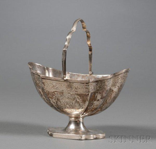 17: George III Silver Sugar Basket, London, 1792, Henry