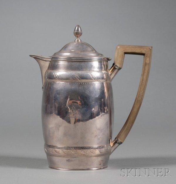 21: George III Silver Hot Water Pot, London, 1798, John