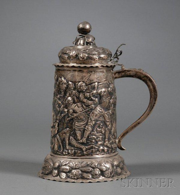 73: Continental Silver Tankard, late 19th century, like