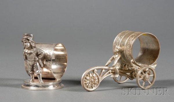 200: Two American Victorian Silverplate Napkin Rings, l