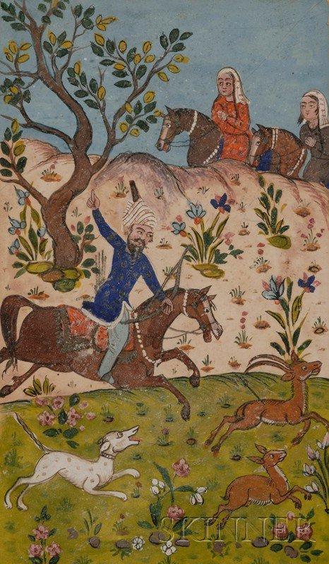 1: Miniature Painting, Kashmir, 19th century, Safavid s