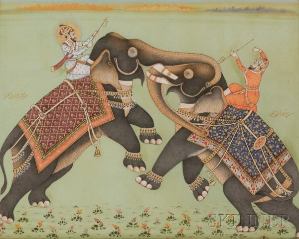 2: Indian Miniature Painting, 18th century, ink, colors
