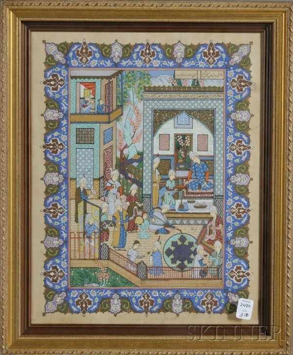 3: Three Miniature Paintings, Persia or India, 20th cen