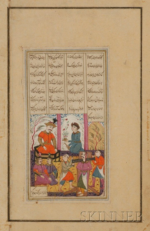 13: Miniature Painting, Persia, 17th century, ink, colo