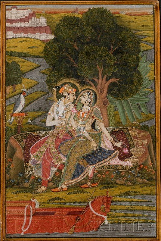 15: Indian Miniature Painting, 18th century, ink, color