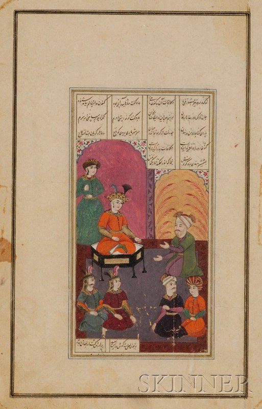 19: Miniature Painting, Persia, 17th century, ink, colo