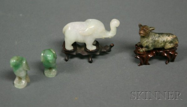 509: Four Jade Animals, early 20th century, two birds,