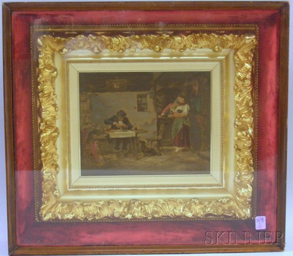 518: Rococo Gilt-gesso and Wood-framed Enhanced Contine
