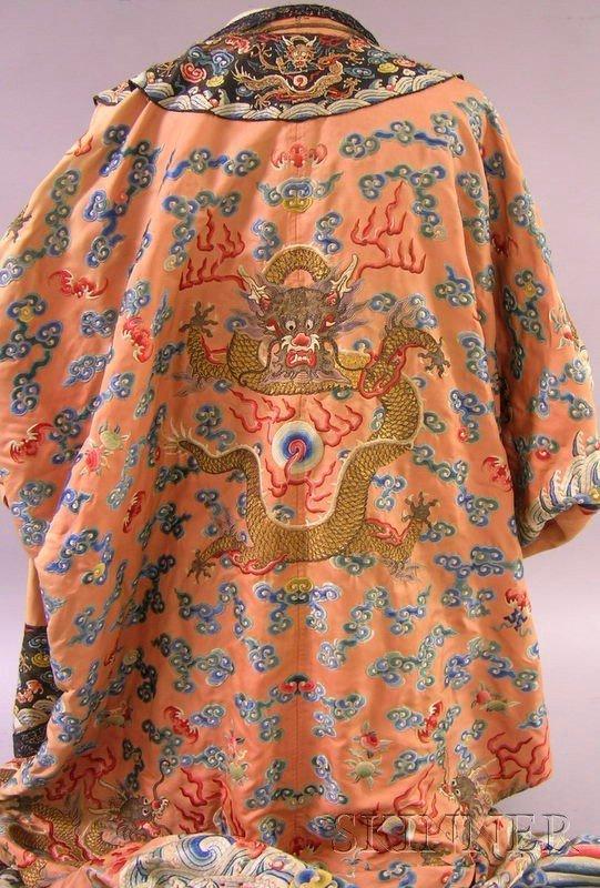 919: Chinese Silk Embroidered Coat. - 7