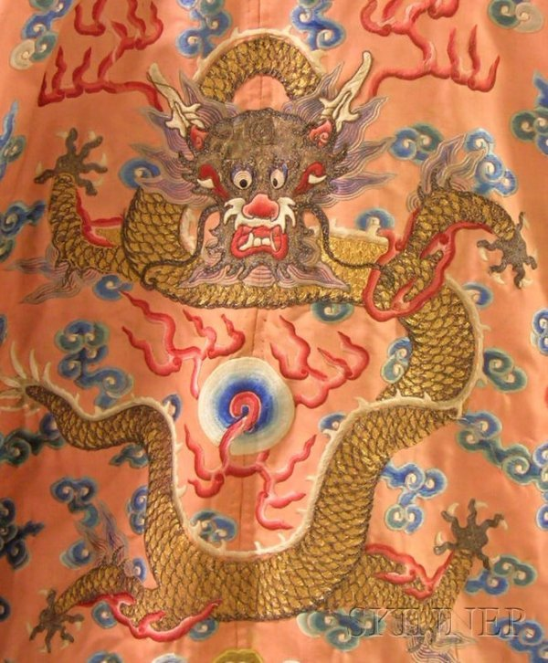 919: Chinese Silk Embroidered Coat. - 8