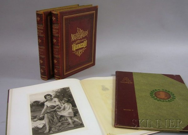 2: Four Late 19th Century Art Books/Folios, Louis Viard