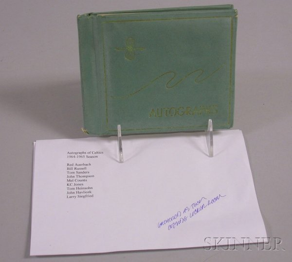 10: 1964/1965 Season Boston Celtics Autograph Book, Red