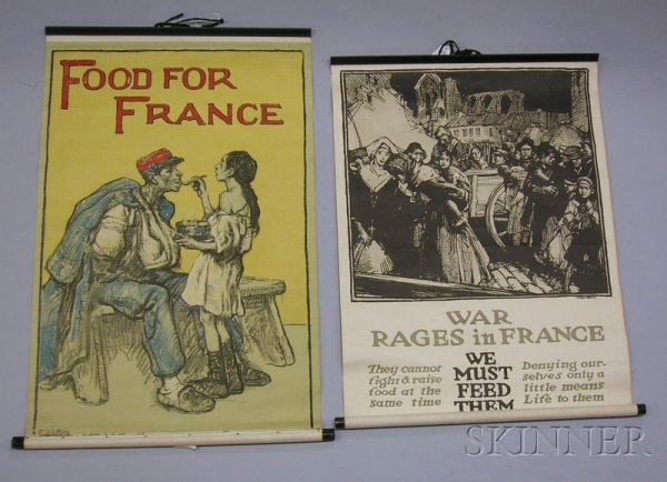 18: Six WWI Lithograph Posters, W.T. Benda, Give or We