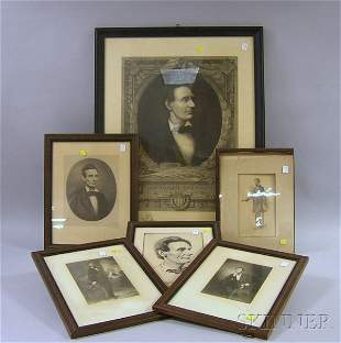 193: Ten Assorted Framed 20th Century Abraham Lincoln P