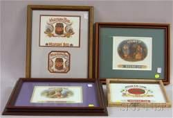 207 Five Framed 1920s1930s Chromolithograph Cigar Box