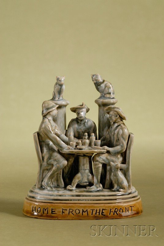 2: Doulton Lambeth Salt-glaze Figural Group of A Gather