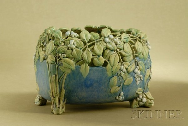 18: Lachenal Earthenware Jardiniere, France, late 19th