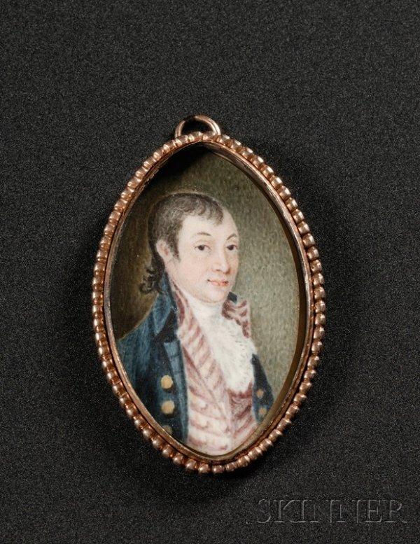 1: Portrait Miniature of Colonel Dudley Coleman (1745-1
