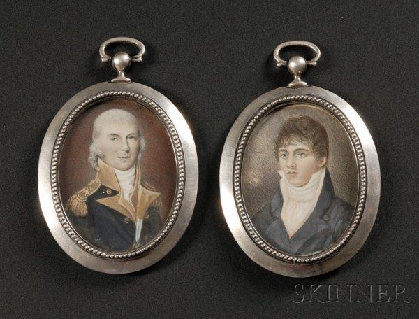 3: Two Portrait Miniatures of Commodore Alexander Murra