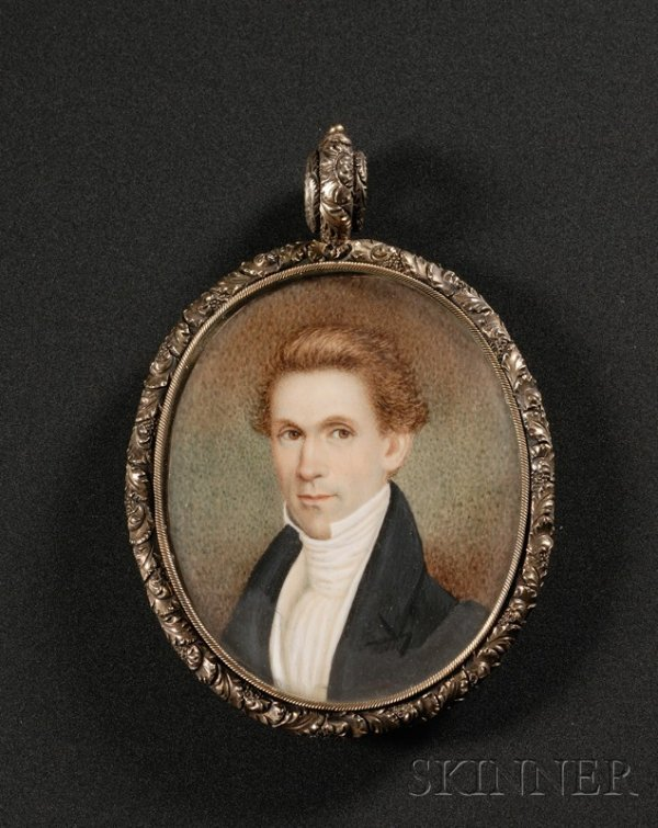 5: Portrait Miniature of a Gentleman with Ginger-colore