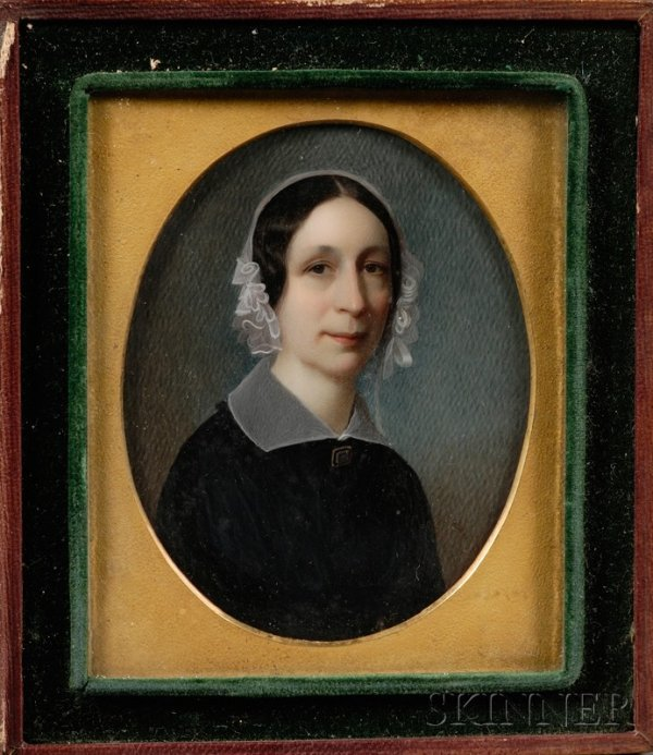 7: Pair of Portrait Miniatures and Three Related Daguer