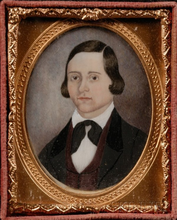 9: Portrait Miniature of a Young Man, American, c. 1840