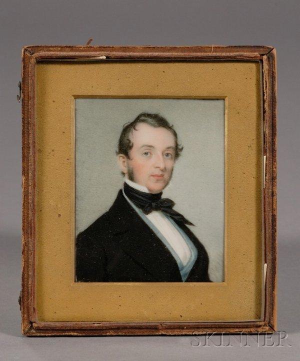 10: Portrait Miniature of a Blue-eyed Gentleman Wearing
