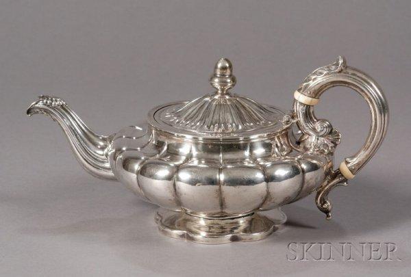 12: Silver Teapot, Baldwin Gardiner, Philadelphia, c. 1
