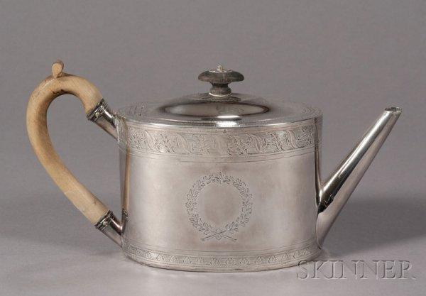 14: Neoclassical Silver Teapot, Thomas Holland, London,