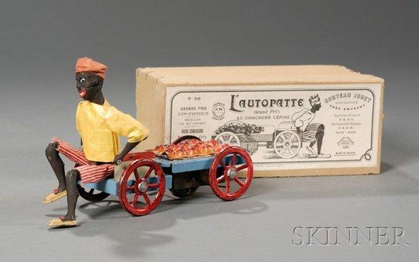 "588: Martin ""L'AUTOPATTE"" Tin Wind-up Black Fruit Vende"