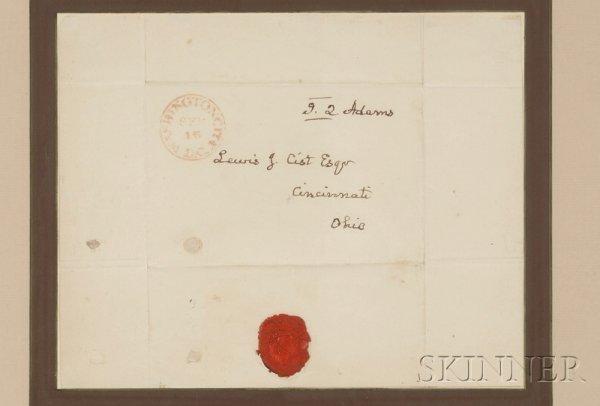 2: Adams, John Quincy (1767-1848), Autograph address pa
