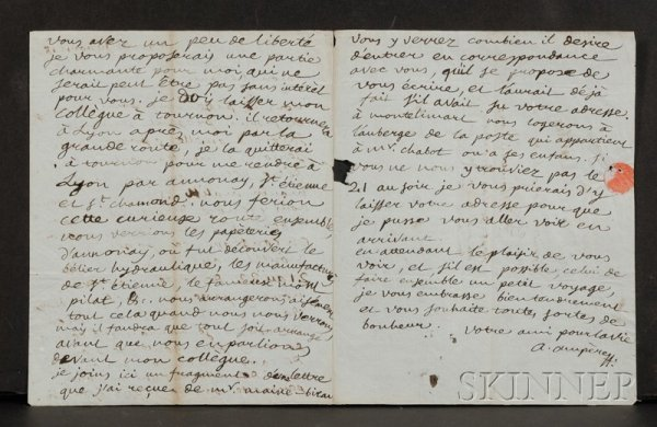 7: Ampere, Andre Marie (1775-1836), Autograph letter si