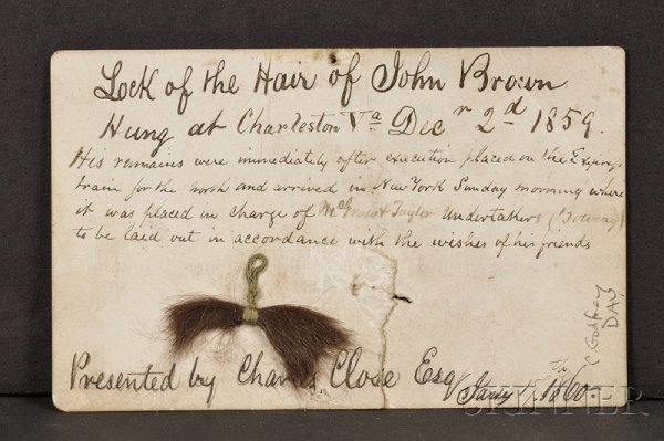 17: Brown, John of Osawatomie (1800-1859), Clipped lock
