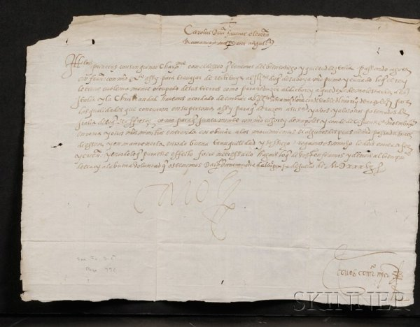 21: Charles V, Holy Roman Emperor (1500-1558), Manuscri