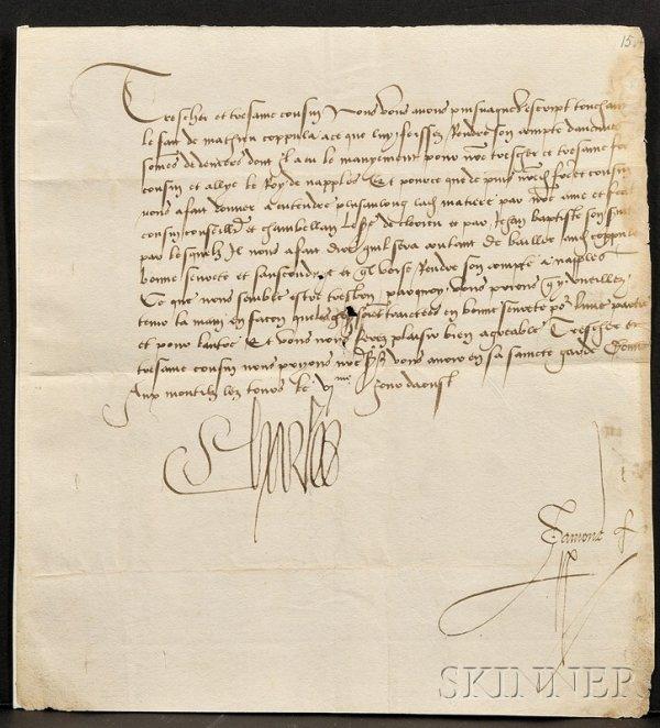 23: Charles VIII, King of France (1470-1498), Manuscrip