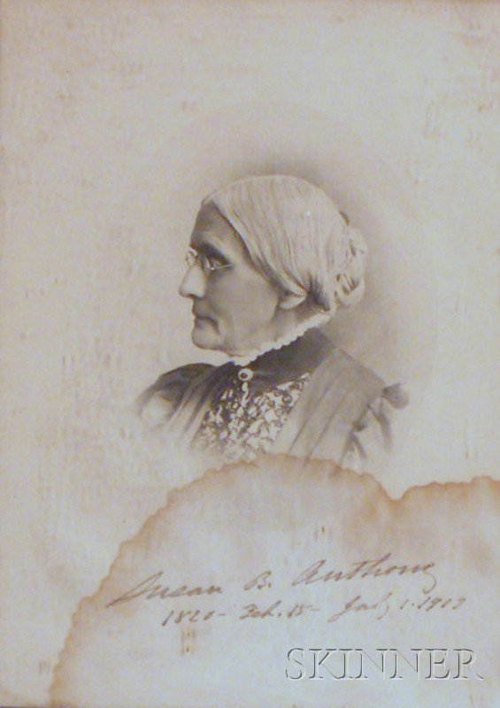 7A: Anthony, Susan B. (1820-1906), Autographed print of