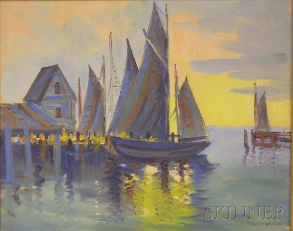 2: Ernest T. Fredericks (American, 1877-1959) Harbor Vi
