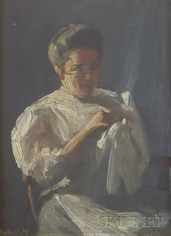 14: Framed Oil on Panel Portrait of a Woman Attributed