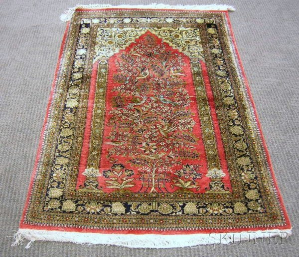 503: Indian Prayer Rug, 20th century, 5 ft. x 3 ft. 4 i