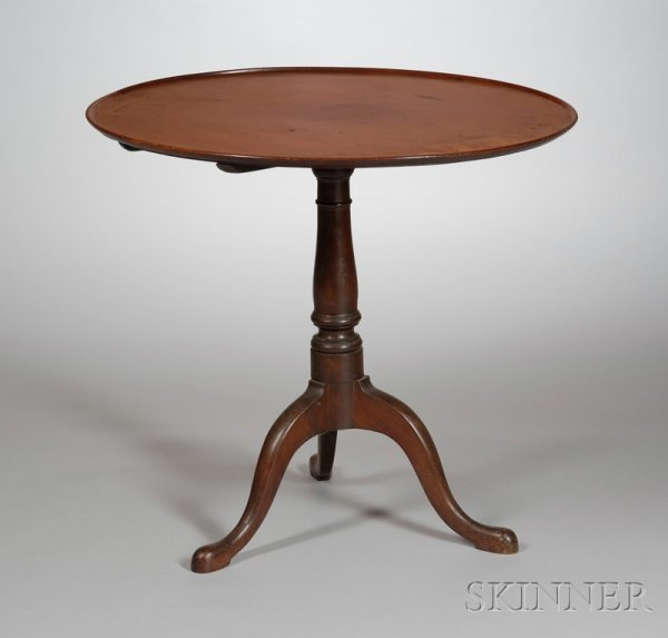 507: Mahogany Tilt-top Tea Table, probably Rhode Island