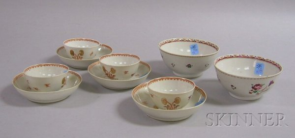 511: Ten Pieces of Chinese Export Porcelain Teaware, tw
