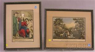 634 Three Framed Winslow Homer Prints and Two Framed C
