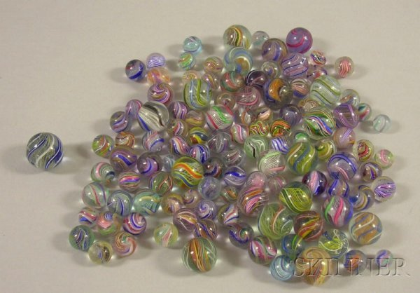 784: Approximately 115 Glass Marbles, including lattici